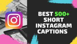 【500+BEST】Short Instagram Captions (2020) with Amazing Caption ideas
